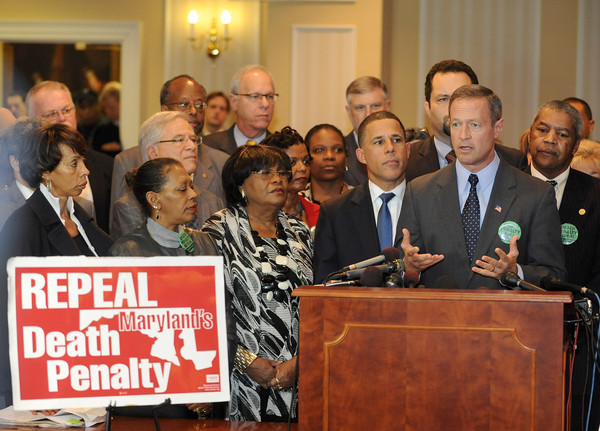 Annapolis, MD - 1/15/13-- Gov. Martin O'Malley speaks at a death penalty repeal press conference at the Senate Judicial Proceedings Committee. {Photo by Algerina Perna} {Item#}