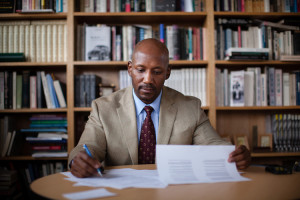 """Craig Wilder, author of the new book """"Ebony and Ivy: Race, Slavery and the Troubled History of American's Universities"""" poses for a portrait on the Massachusetts Institute of Technology campus in Cambridge, Massachusetts on October 7, 2013."""