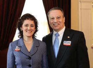 Shelley Aloi and Del. Ron George