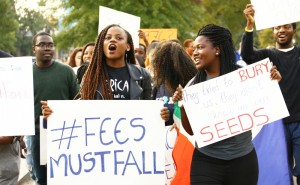 #feesmustfall Movement in South Africa (Photo by Jesús Hidalgo | The Chronicle)