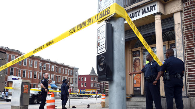 Baltimore Police Scene (Credit: Baltimore Sun)