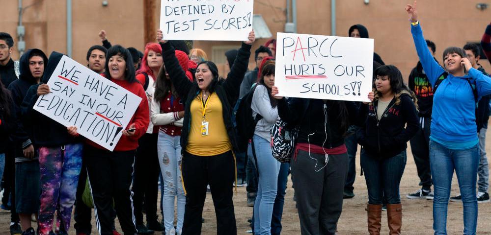 Common Core Protest (Credit: academia.org)