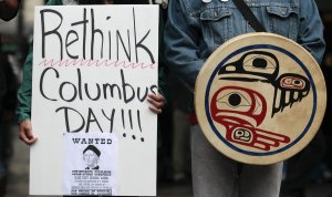 Columbus Day Protest (Credit: NPR)