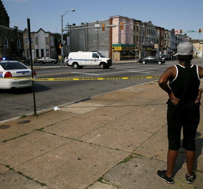 Baltimore Crime Scene (Credit: NPR)