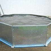 HydroSwizz Notfallschutzwand – Einsatz als Becken