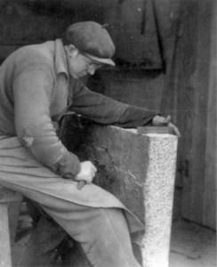 Steinmetzarbeit auf dem Grünen Graben