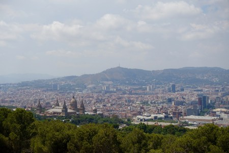 A closer view from Castell de Montjuïc