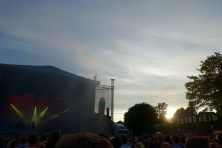 Sunset at the festival area
