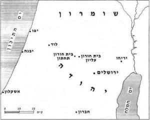 di map of beit horon