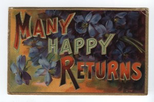 Many happy returns (postcard from 1910)