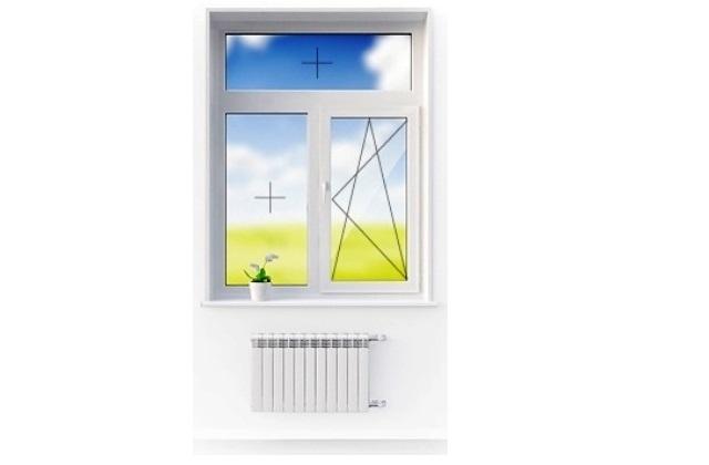 Окно 2-х створчатое