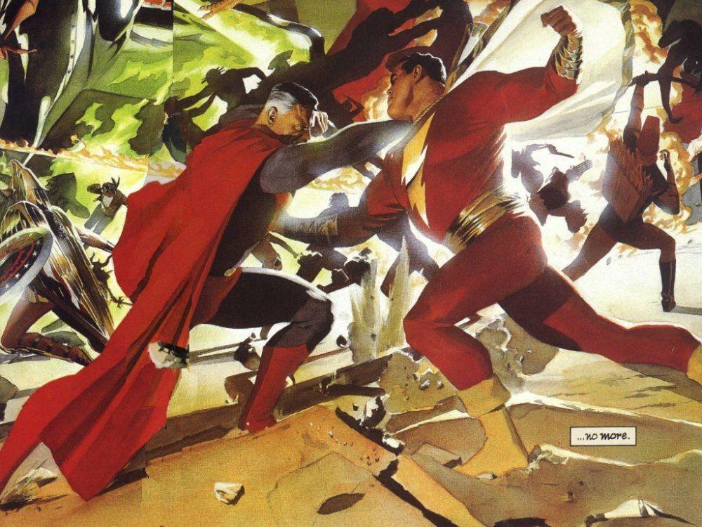 Kingdom Come Superman and Shazam
