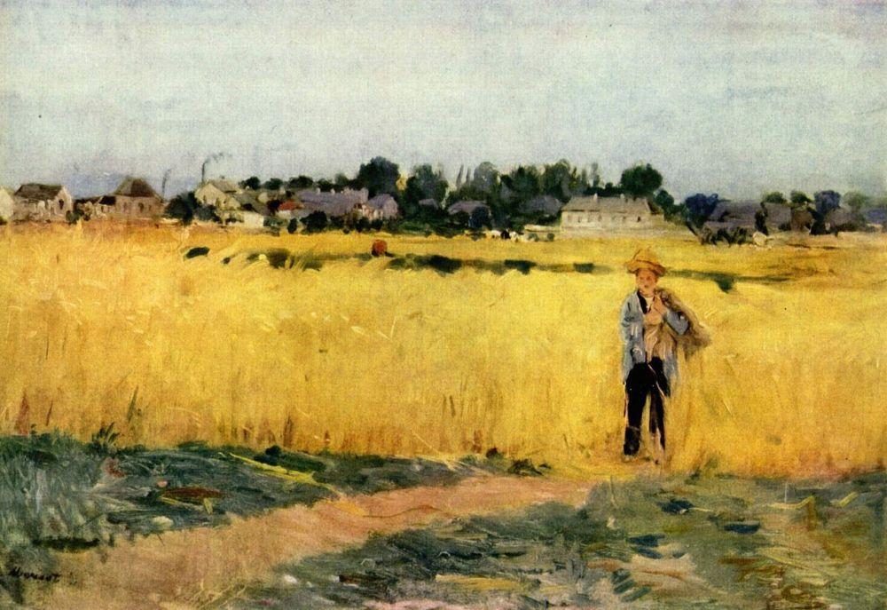 Berthe Morisot - Grain field, c.1875