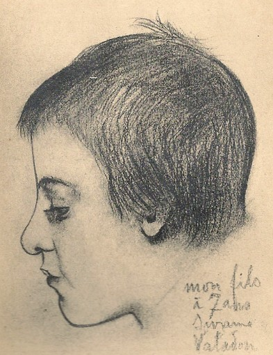 Portrait de Maurice Utrillo à 7ans par sa mère, Suzanne_Valadon,