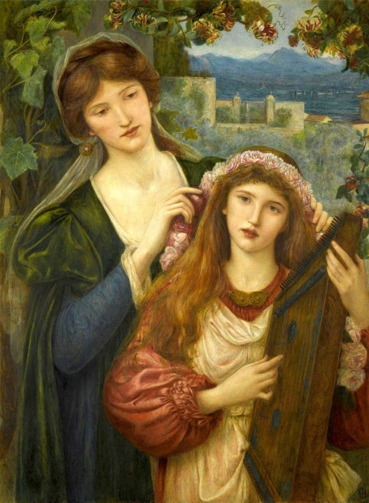 Marie Spartali Stillman - The Childhood Of St. Cecily, 1883
