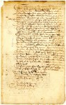 1 Sep 1649. Power of attorney from Anthony Bermoeda to Hans Weber. Source: New York State Archives. New York (Colony). Secretary of the Province. Register of the Provincial Secretary, 1642-1660. Series A0270-78. Volume 3, documents 64a - 64b-c, side 1. to receive his share of the prize Tobasco