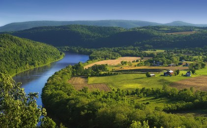 Susquehanna River as seen from Marie Antoinette Overlook along Route 6.William Coolbaugh (1777)