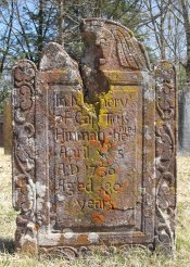 Captain Titus Hinman 1655-1736 gravestone: Burial: White Oak Cemetery, Southbury, New Haven County, Connecticut