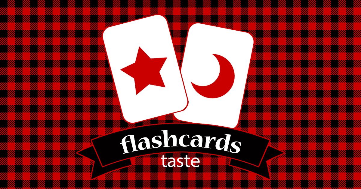 Flashcards Taste
