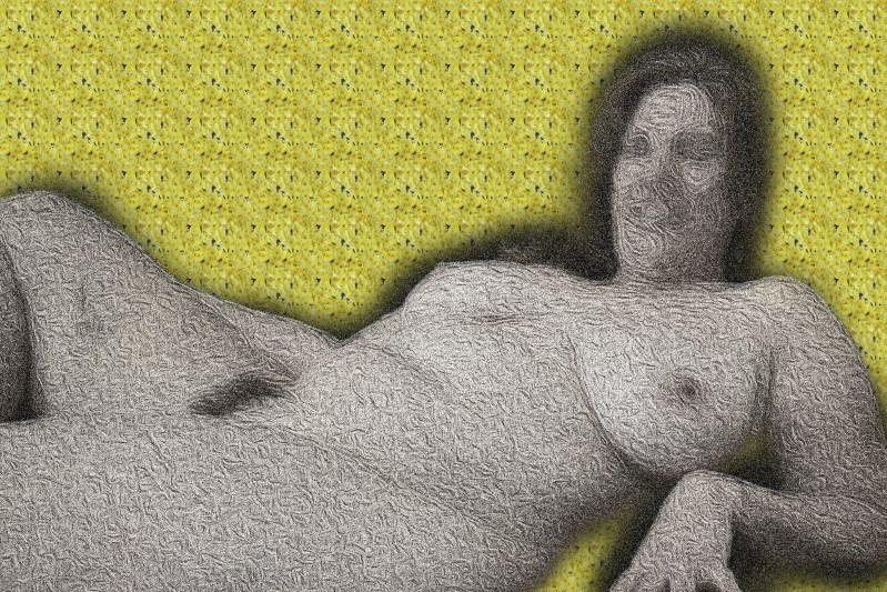 A reclining naked woman