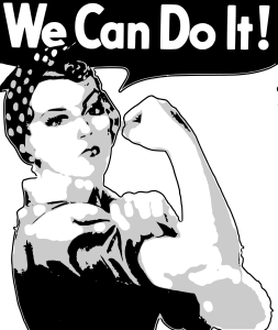 picture of woman worker and phrase 'You Can Do It""
