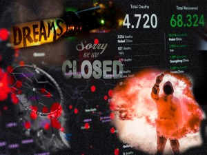 Graphic montage for blog post Pandemic Dreams