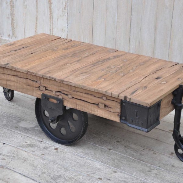 railway sleeper coffee table - stellajane interiors