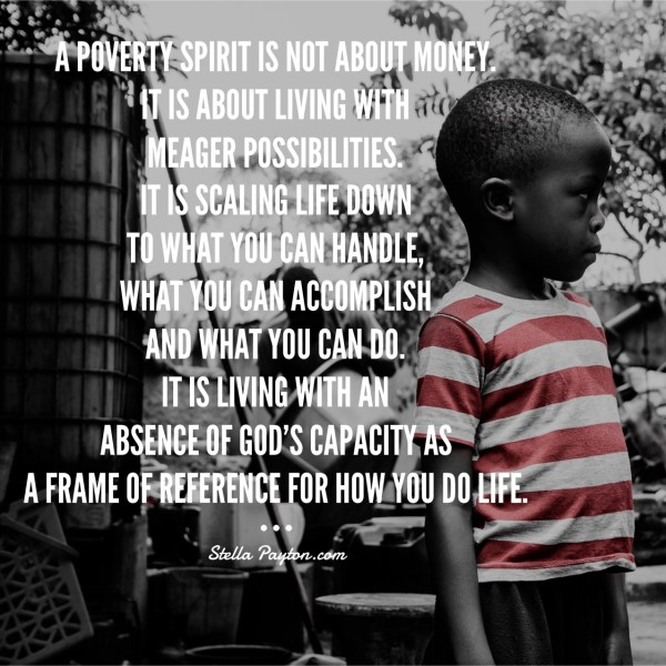 Overcoming a poverty spirit