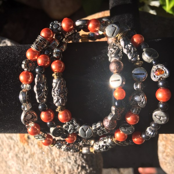 4 MM Orange Chayil Bracelet