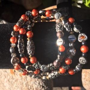 4 MM Orange Chayil Bracelet