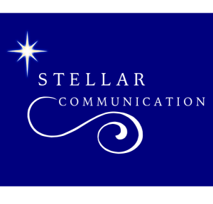 Dark Background with a bright star connected with a Swirl from communication reaching outward and inward