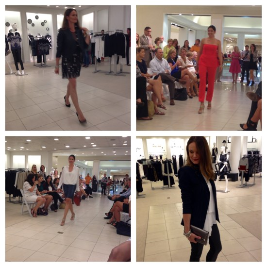 Rachel (top left, bottom right) and Vanessa (top right, bottom left) in the fall BCBGMAXAZRIA collection