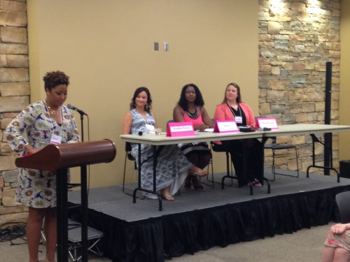 The Blog Like A Boss Panel of Heather Brown, Javacia Harris Bowser and me, moderator, Eunice Elliott