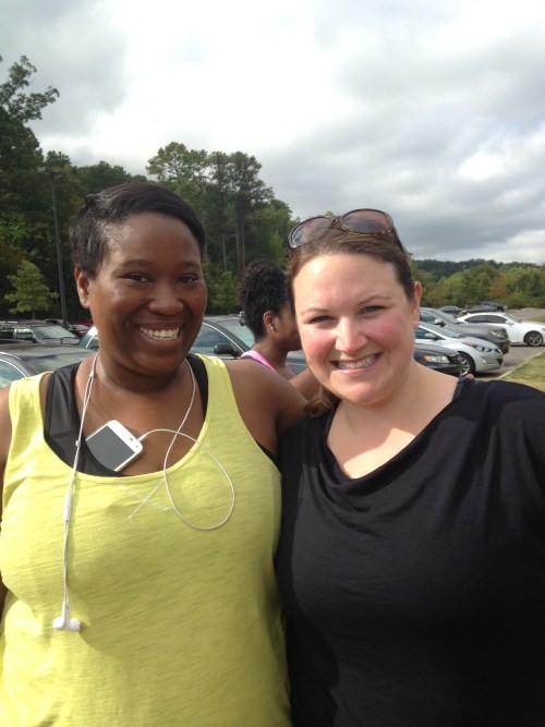 Jeniese, who blogs at The Jenesaisquoi, was kind enough to join the 5k Saturday, too!