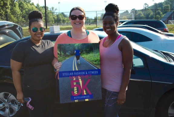 Christina of Pink Lux , me and Javacia of See Jane Write at the June 2016 Makeshift 5k