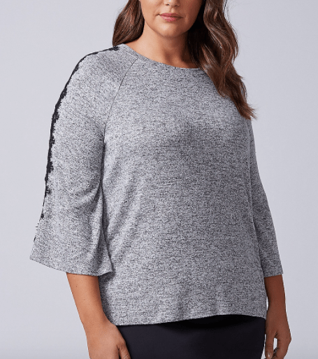 Lane Bryant lace inset sweater