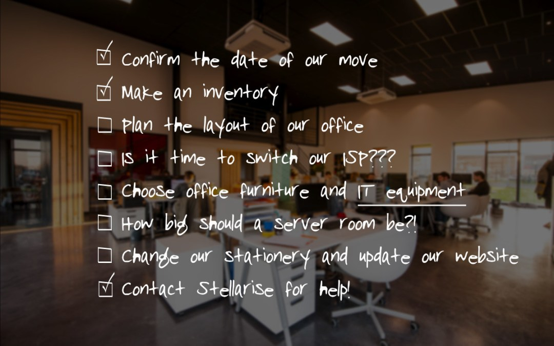 The office move IT checklist for growing businesses