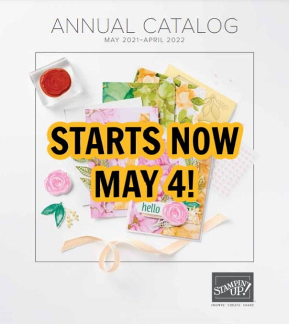 The NEW 2021-2022 Stampin' Up! Annual Catalog started today!