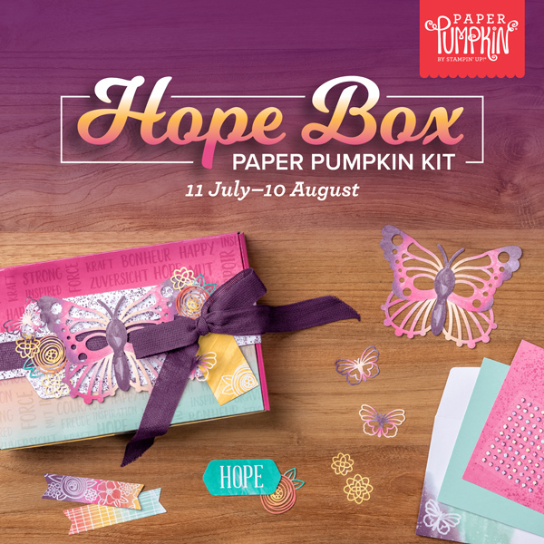Share comfort via our Hope Box August Paper Pumpkin kit by Stampin' Up!