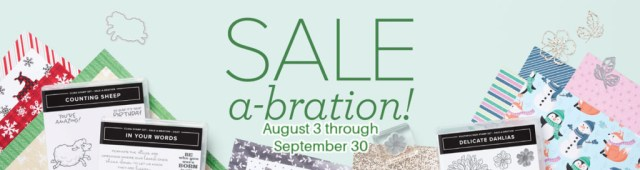 Our biggest Stampin' Up! sale, Sale-A-Bration is now live!