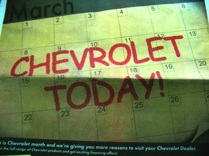 Chevrolet Comic Sans MS