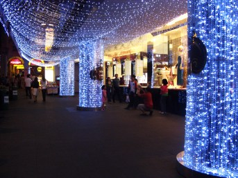 Orchard Road: crystal lights