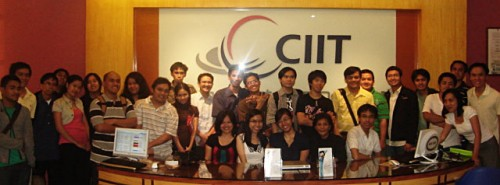 3rd Mini Web Design Conference participants at CIIT lobby