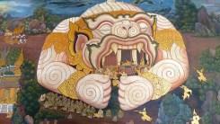 Wat Phra Kaew Ramayana Hanuman mural