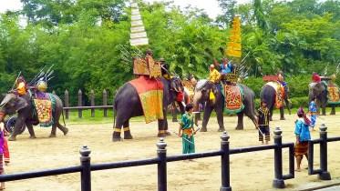 Samphran elephants