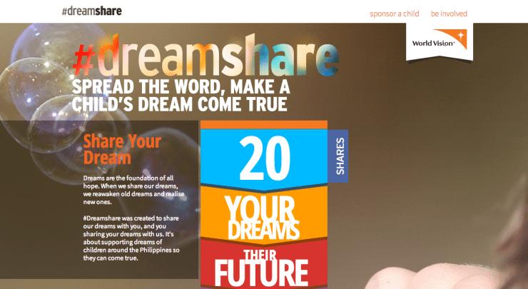 World Vision Dreamshare website by LetsThinkWeb