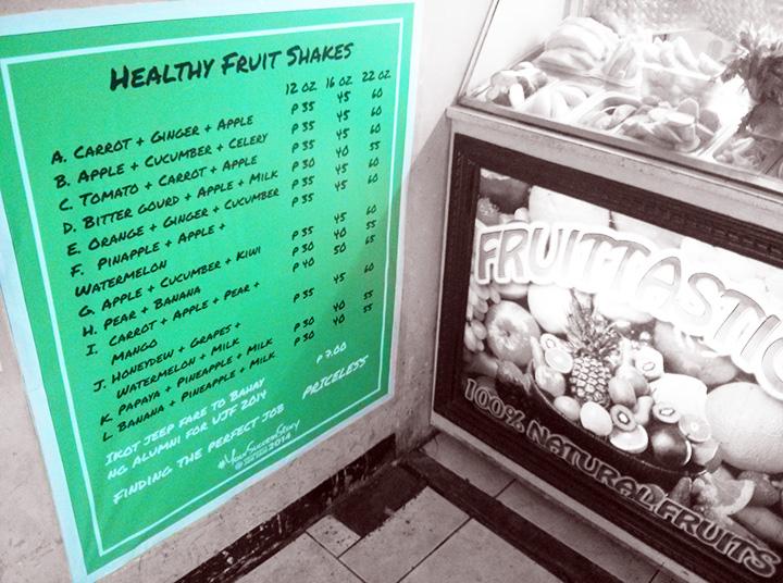 Priceless food stall sign