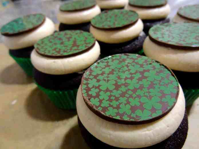 Chocolate Irish Cream Cupcakes 2