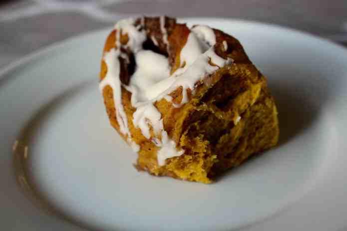 Pumpkin Cinnamon Rolls - 20