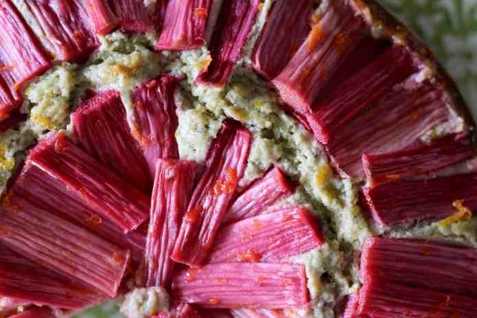 Green Tea Rhubarb Cake - 23